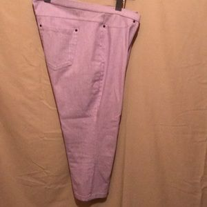 Cotton and spandex fitted capris